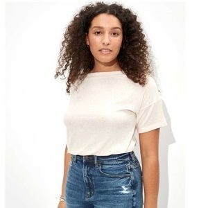 AE Cinched Off-The-Shoulder T-Shirt